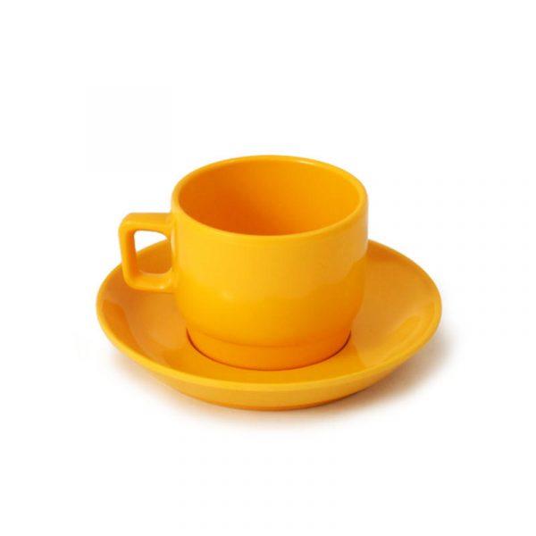 tazzina espresso melammina gialla caravanbacci